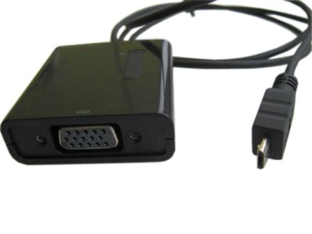 MHL-кабель microUSB Bm to VGA F with Analog and Digital Audio (SPDIF), 1м.